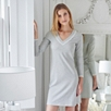 Stripe Lace Trim Night Gown