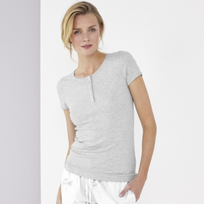 Short Sleeve Sleep Rib Henley
