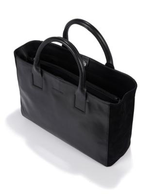 Leather Signature Tote Bag