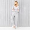 Stripe Lace Trim Long-Sleeve Pajamas Set