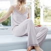 Scallop Lace Trim Pajama Bottom - Blush