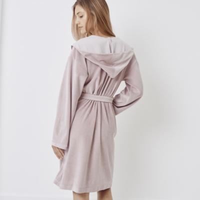 Short Lightweight Velour Robe