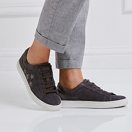 Suede Embroidered Sneakers