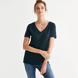 V Neck T-Shirt - Navy