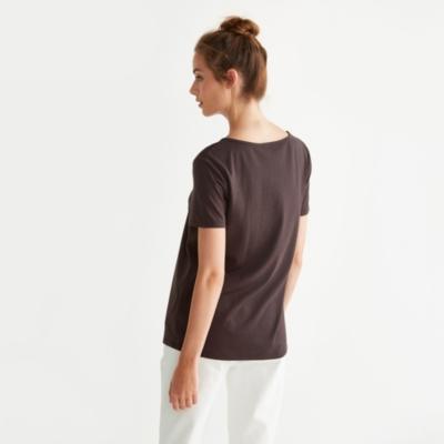 V Neck T-Shirt - Chocolate
