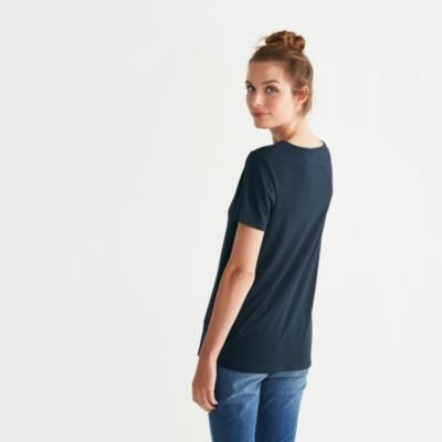 V Neck T-Shirt - Navy