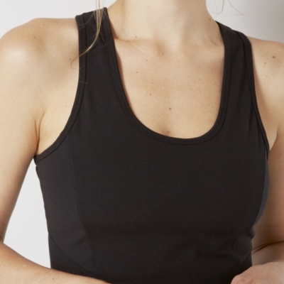 Cotton-Rich Seamed Vest Top