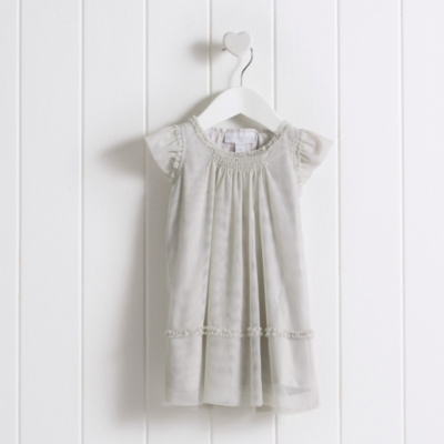 Baby Girls' Smocked Tulle Dress
