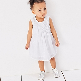 Smocked Dotty Dress