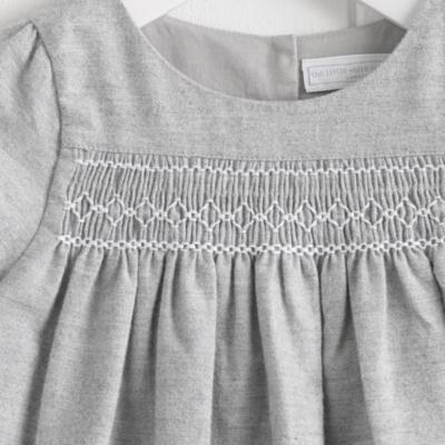 Smocked Flannel Dress