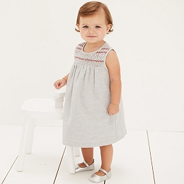 Smocked Flannel Pinny