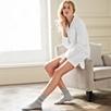 Sateen Stripe Nightgown - White