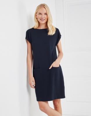 Slash Neck Ponte Dress