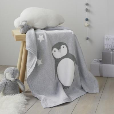 Snowy Penguin Baby Blanket