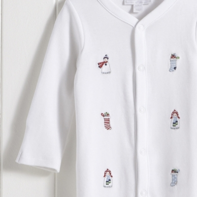 Embroidered Snowman Sleepsuit