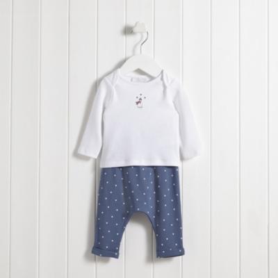 Snowman Embroidery Pajamas