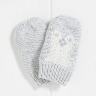 Snowy Penguin Mittens