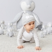 Snowy Velour Sleepsuit & Hat Set