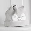 Snowy Velour Sleepsuit & Hat Set