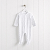 Snowfall Velour Sleepsuit