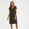 Silk Overlay Jersey Dress