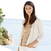 Soft Metallic Linen V-Neck - Gold