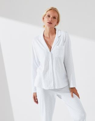 Spot Print Jersey Pajama Set