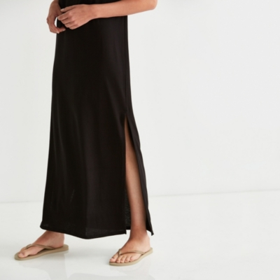 Slouchy Side Split Dress