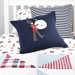 Soldier Knitted Cushion Cover