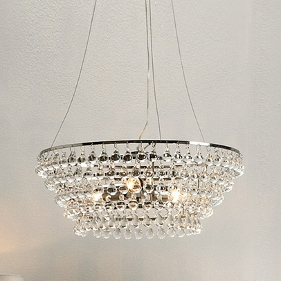 Solid Glass Orb Ceiling Light, Clear