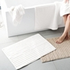 Rib Hydrocotton Bath Mats - White