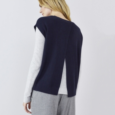 Sleeveless Split Back Sweater