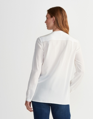 Silk Pleated Blouse