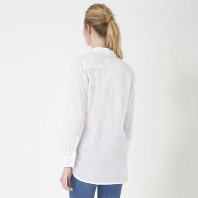 Cotton Printed Shirt - White