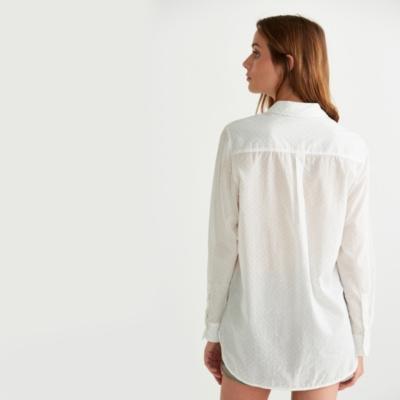 Cotton Printed Shirt - Blue