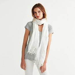 Sparkle Stripe Cotton Blend Scarf