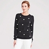 Spot Intarsia Sweater - Dark Charcoal Marl