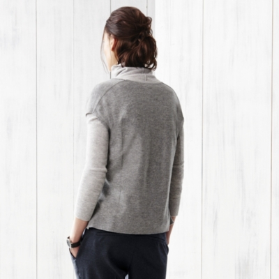 Side Panel Sleeveless Sweater - Gray Marl