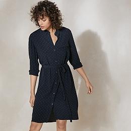 Spot Print Shirt Dress
