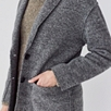 Speckled Unlined Cardigan Coat