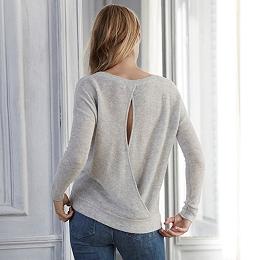 Sparkle Wrap Back Sweater