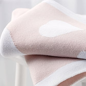 Buy Reversible Heart Baby Blanket from The White Company