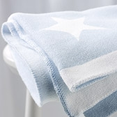 Buy Reversible Star Baby Blanket from The White Company