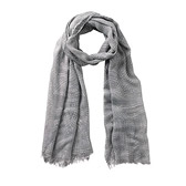 Buy Abstract Leaf Print Scarf - Frost Grey from The White Company