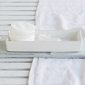 Ceramic Rectangular Container - White