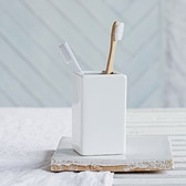Buy White Ceramic Toothbrush Holder from The White Company