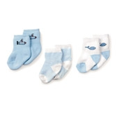 Buy Baby Boy Sleep Socks - 3 - Pack from The White Company