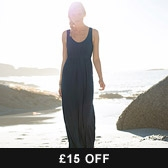 Buy Banded Empire Jersey Maxi Dress - Midnight from The White Company