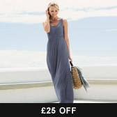 Buy Banded Empire Jersey Maxi Dress - Blue from The White Company