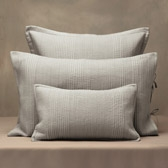 Buy Belgravia Cushion Covers - Silver Grey from The White Company